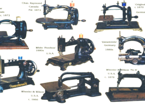 Ray Cocker's Vintage Collection of restores sewing machines