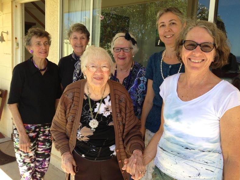 L-R: Cynthia Morgan, Fran Robinson, Joyce Hyam, Elaine Campbell, Bernadine Hine & Sue Duffy