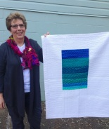 Glad Howard and her modern quilt