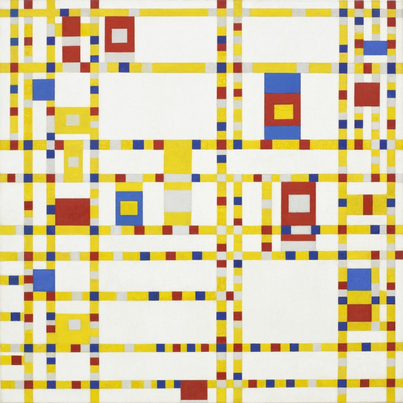 "Piet Mondrian ""Broadway Boogie Woogie"" 1932-43 Image courtesy of MOMA"