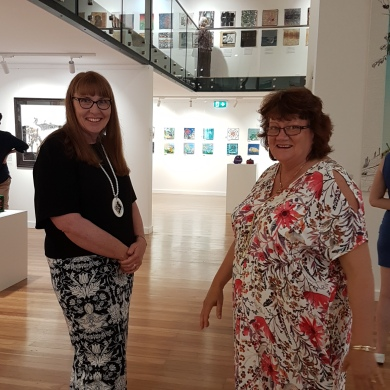 Artists Alison Charlton and Di Flint