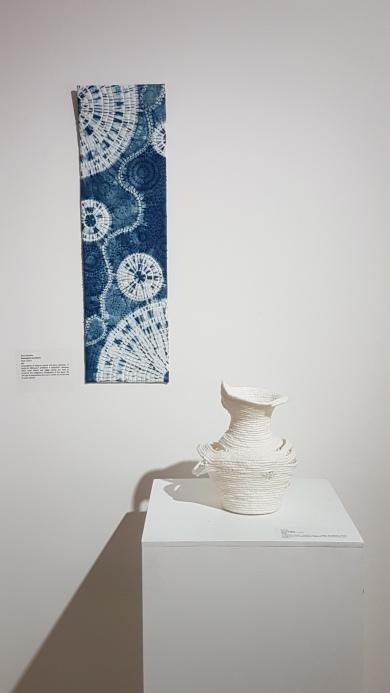 Vessel by Di Flint, Shibori by Alison Charlton