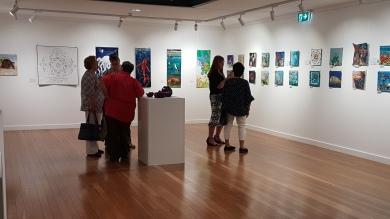 My work nestled wonderfully adjacent to the Coastal Threads exhibit