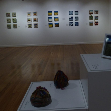 "Our DDD display of 6"" works depicting the Darling Downs and Dalby area"