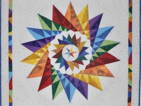 Not a Mariners Compass by Lessa Siegele with Pieced points