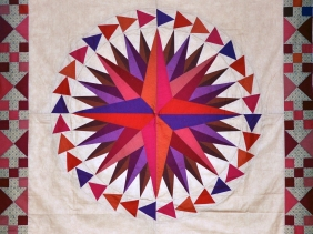 Mariners compass by Lessa Siegele at 2 Sew textiles