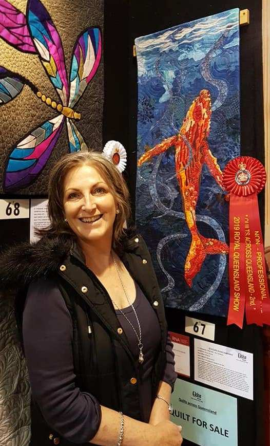 """Brenda Wood and """"So long and thanks for the fish..."""" and my ribbon ! Yay ! at the the Royal Brisbane Show"""