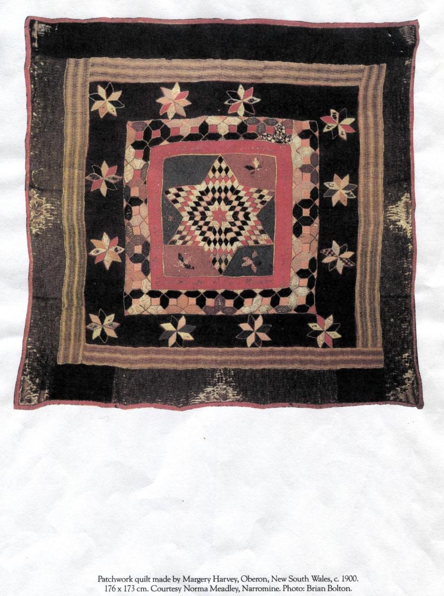 Margery Harvey Historical Antique quilt C1900